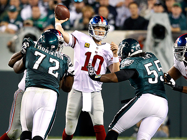 New York Giants quarterback Eli Manning. (Mel Evans/AP file photo)