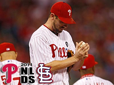 Cliff Lee gave up 12 hits, which ties a career high, on Sunday in Game 2. (Clem Murray/Staff Photographer)