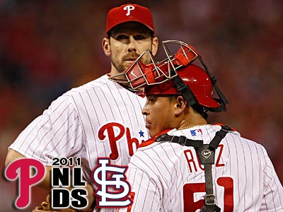 Cliff Lee pitched pitched six innings and allowed five runs on 12 hits in Game 2. (Clem Murray/Staff Photographer)