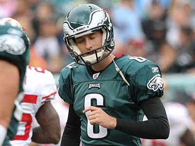 Eagles kicker Alex Henery missed two field goals against the 49ers. (Steven M. Falk/Staff Photographer)
