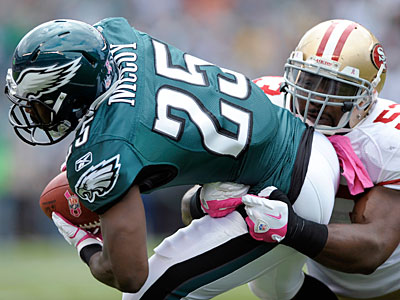 Eagles running back LeSean McCoy fired, then rehired agent Drew Rosenhaus this week. (Michael Perez/AP)