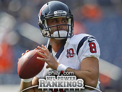 Matt Schaub´s Texans are one of only three undefeated teams. (AP Photo)