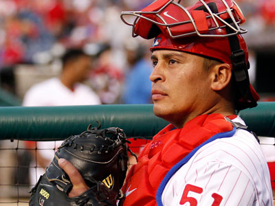 In 2012, Carlos Ruiz was the team MVP with career highs in hitting, OPS, home runs and RBIs. (Yong Kim/Staff file photo)
