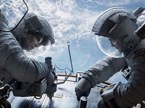 "Director Alfonso Cuaron went to great lengths to bring realism to the space scenes in ""Gravity."""