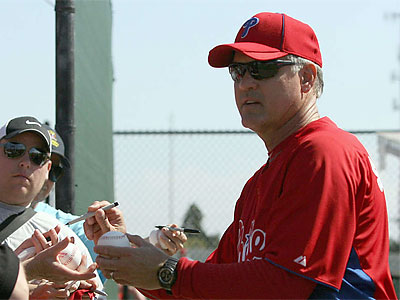 Ryne Sandberg led the IronPigs to the playoffs and the first winning season in team history last year. (File photo)