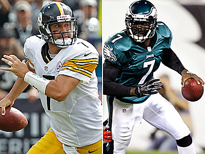 Quarterbacks Ben Roethlisberger and Michael Vick will lead their teams into the battle for Pennsylvania. (Staff and AP Photos)