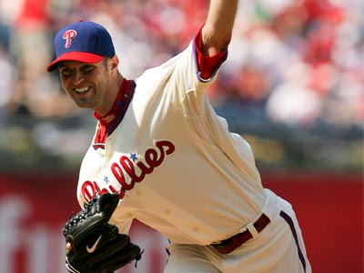 Phillies´ pitcher J.A. Happ is suffering from forearm stiffness and could land on the DL. (Yong Kim / Staff Photographer)