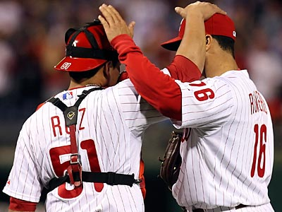 Charlie Manuel said Carlos Ruiz and J.C. Romero have been cleared to play in the NLDS. (Steven M. Falk / Staff File Photo)