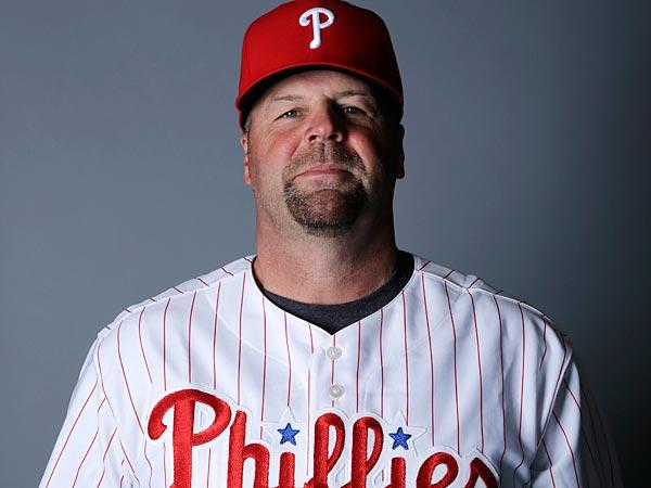 The Phillies have cut catching coach Mick Billmeyer loose. (AP Photo/Matt Slocum)