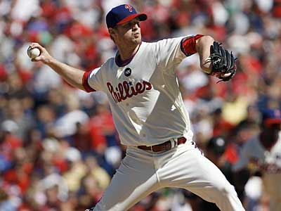 Phillies pitcher Kyle Kendrick is on the postseason roster. (File photo)