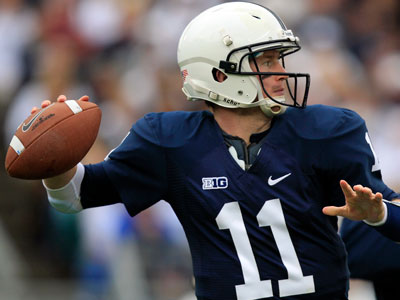 Penn State quarterback Matthew McGloin passes during  the game against Northwestern on Saturday. (Gene J. Puskar/AP)