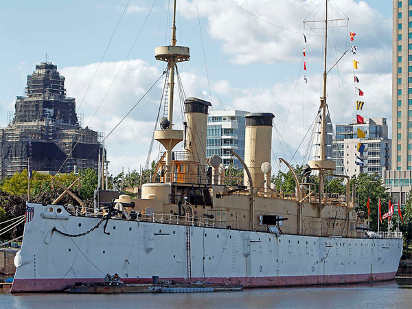 The USS Olympia at the Independence Seaport Museum.