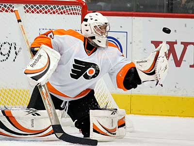 Sergei Bobrovsky starts in goal for the Flyers tonight against the Penguins. (AP Photo / Andy King)