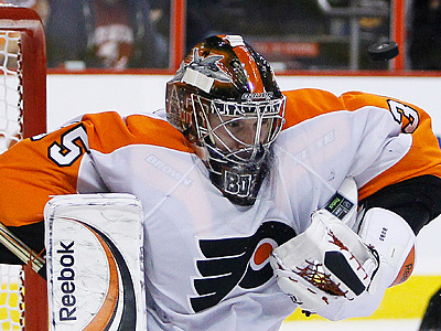 Sergei Bobrovsky will get the start in net tonight for the Flyer´s season opener. (AP Photo/Matt Slocum)