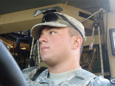 U.S. Army Spec. Richie Gegeckas is headed for Walter Reed Army Medical Center in Washington. D.C. for leishmaniasis, a parasitic disease caused by the bite of infected sand flies in Afghanistan.