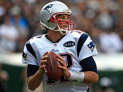 Tom Brady and the Patriots host the Jets this weekend. (AP Photo)