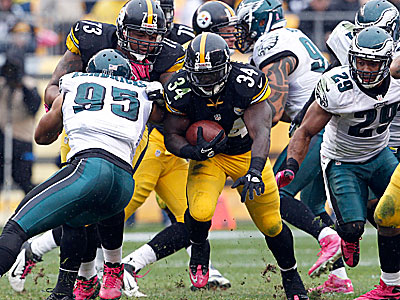 The Eagles gave up 136 rushing yards in the loss to the Steelers. (Yong Kim/Staff Photographer)