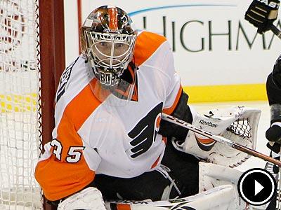 Sergei Bobrovsky was perhaps the reason the Flyers won their season opener over the Penguins Thursday night. (Gene J. Puskar/AP)