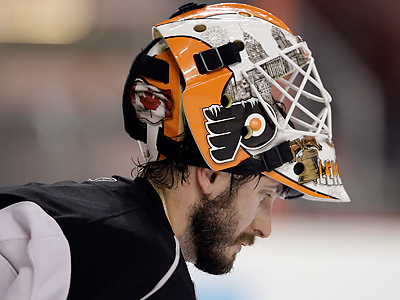 Michael Leighton cleared waivers and will be sent to the Phantoms. (David Maialetti / Staff Photographer)