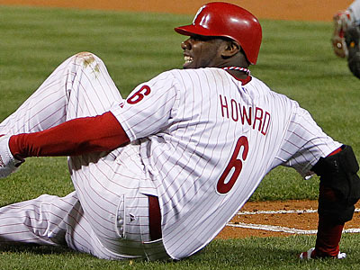 Ryan Howard´s recovery time for a torn Achilles tendon may be loneger than predicted. (Ron Cortes/Staff Photographer)