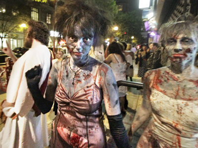 The Zombie Prom was held at the Trocadero in Center City last month. (Elizabeth Robertson / Staff Photographer)