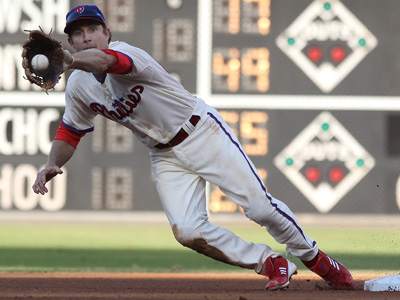 The Phillies thought about moving second baseman Chase Utley to third. (Michael Bryant/Staff file photo)