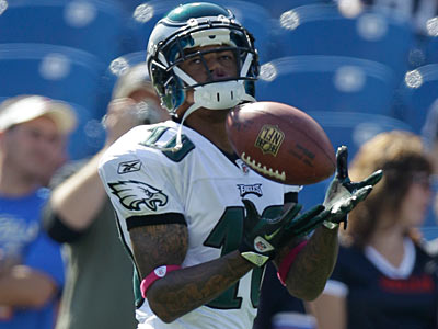 Eagles wide receiver DeSean Jackson is still waiting for a new contract. (David Duprey/AP Photo)