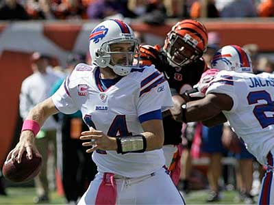 The Eagles take on Ryan Fitzpatrick (pictured) and the Bills Sunday afternoon. (AP Photo / Al Behrman)