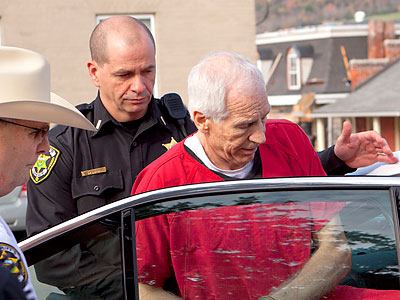 Jerry Sandusky was convicted on 45 counts of sexual crimes against children. (Ed Hille / Staff Photographer)