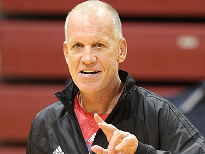 """""""I love our energy, I love our competitiveness,"""" Doug Collins said after Tuesday's practice. (Charles Fox/Staff Photographer)"""
