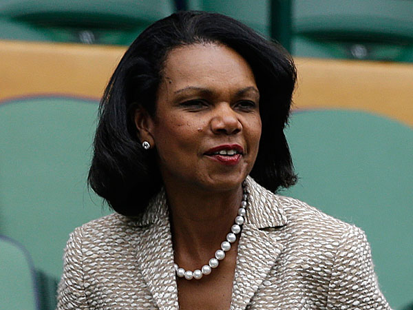 Former Secretary of State Condoleezza Rice. After students objected, she decided to not speak at Rutgers´ graduation this weekend. (Anja Niedringhaus/AP/File)