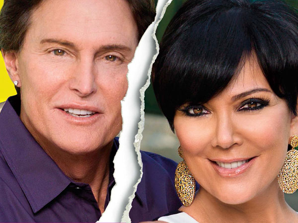 This cover image released by US Weekly shows the exclusive announcement about the break-up of celebrity couple Bruce Jenner and Kris Jenner.  The couple confirmed theyíve split and have been separated for a year. (AP Photo/US Weekly)