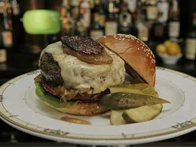 The Village Whiskey burger.    Akira Suwa / Staff Photographer
