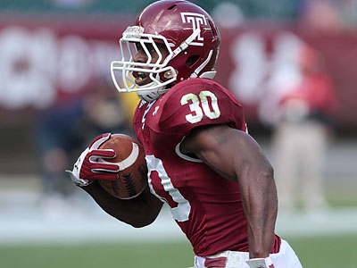 """I´m feeling well,"" Owls running back Bernard Pierce said. ""My body is holding up."" (David Swanson/Staff file photo)"