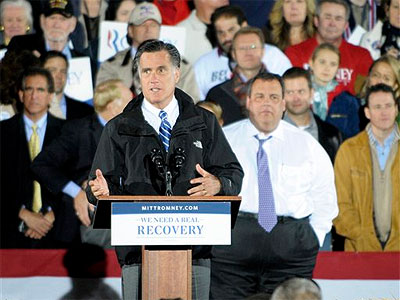 New Jersey Gov. Chris Christie went to Ohio to support Mitt Romney last month, even as poll numbers show President Obama still holds a consistent lead in the Garden State. (AP Photo / Mark Stahl)