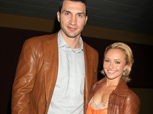 "FILE - In this April 23, 2011 file photo released by Starpix, actress Hayden Panettiere  and boxer Wladimer Klitschko arrive at a Tribecca Film Festival screening of ìHoodwinked Too! Hood vs. Evil,"" in New York. Panettiere is confirming her engagement to Olympic boxer Wladimir Klitschko. Appearing on ""Live with Kelly and Michael,"" Wednesday, Oct. 9, 2013, the 24-year-old actress was flashing a large diamond ring that prompted host Kelly Ripa to inquire what it might signify. (AP Photo/Starpix, Davre Allocca, File)"