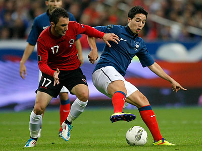 The U.S. national team could face French star Samir Nasri in a friendly match next month. (Michel Spingler/AP)