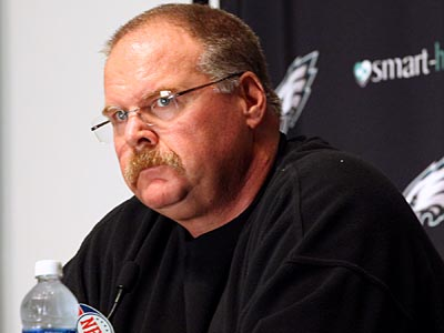"""""""Sometimes you need to take a step back to take a step forward,"""" Andy Reid said.<br /> (Caitlin Morris/Staff file photo)"""