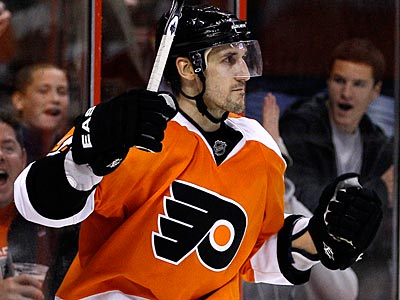 Blair Betts does not count against the Flyers´ salary cap since he is on the long-term injury list.  (Matt Slocum/AP file photo)