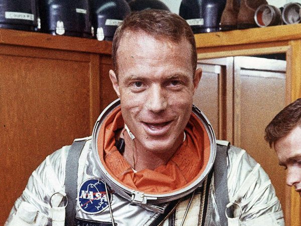 Scott Carpenter at Cape Canaveral, Fla., in August 1962. He made history earlier that year.
