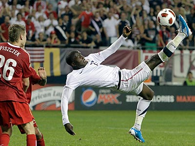 Jozy Altidore and the U.S. men´s national team host Colombia at PPL Park. (Nam Y. Huh/AP)