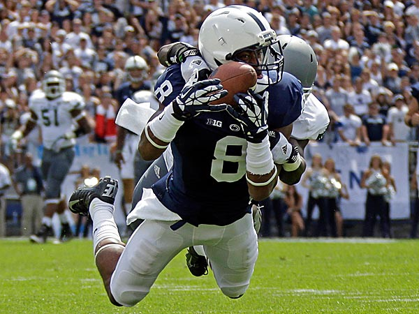 Penn State´s Allen Robinson could be an interesting addition to the Eagles. (AP Photo/Gene J. Puskar, File)