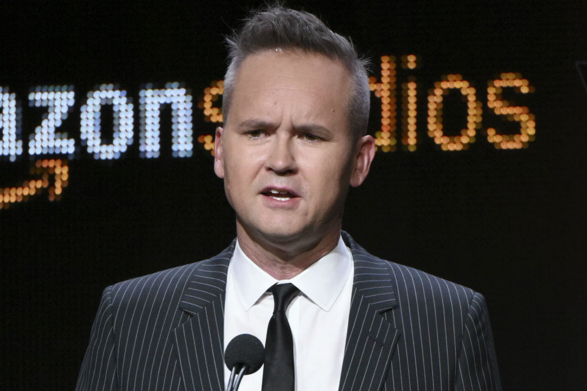 """FILE - In this Aug. 3, 2015 file photo, Roy Price, head of Amazon Studios, participates in the """"Hand of God"""" panel at the Amazon Summer TCA Tour at the Beverly Hilton Hotel in Beverly Hills, Calif. Amazon Studios says it has accepted the resignation of its top executive, Roy Price, following sexual harassment allegations made by a producer on the Amazon series """"Man in the High Castle."""""""