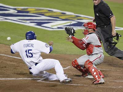 Phillies´ catcher Carlos Ruiz (51) batted .219 with 4 home runs and 31 RBIs in 117 games in the 2008 season. (Dave Maialetti / Staff Photographer)