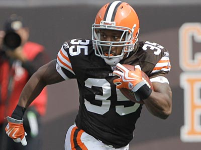 The Eagles acquired RB Jerome Harrison from the Browns today. (AP Photo / Amy Sancetta)