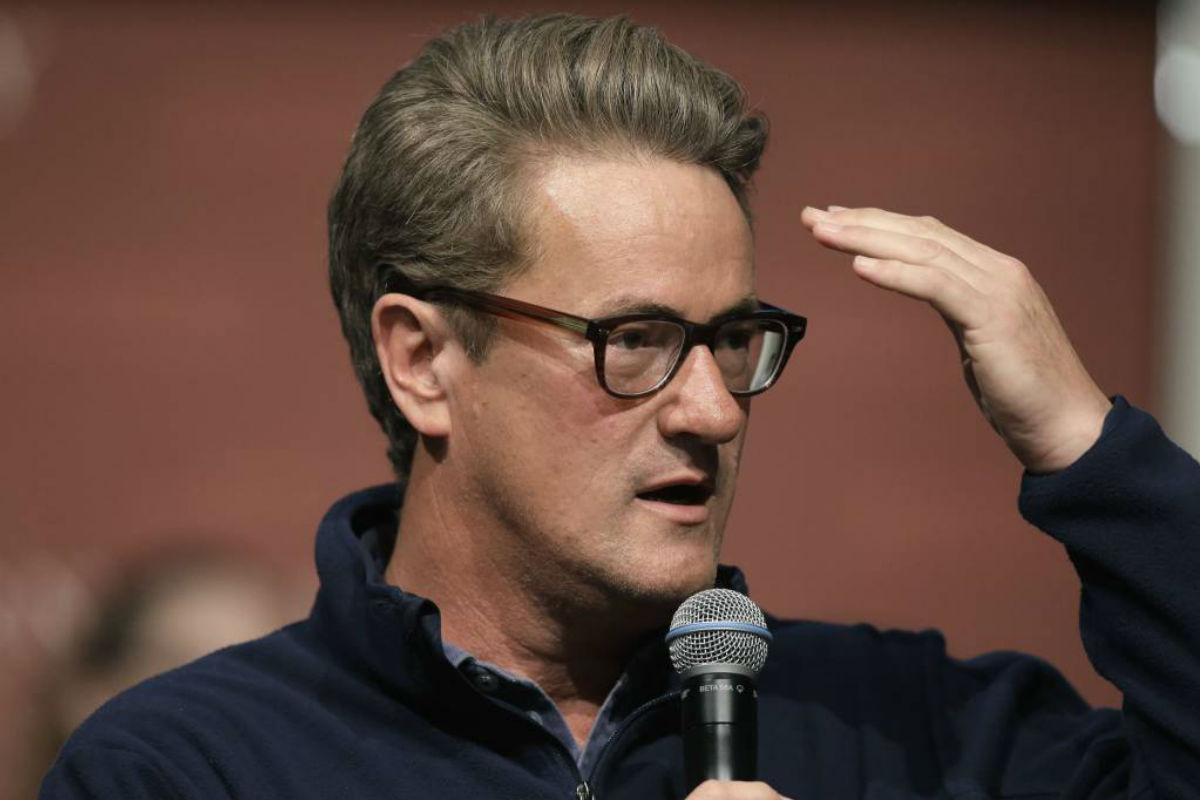FILE - In this Oct. 11, 2017, file photo, MSNBC television anchor Joe Scarborough takes questions from an audience at forum at the John F. Kennedy School of Government, on the campus of Harvard University, in Cambridge, Mass. Scarborough announced Oct. 12, 2017, that he formally left the Republican party and became an independent.