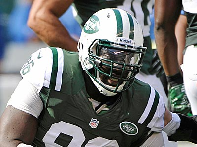 Jets defensive end Muhammad Wilkerson recorded seven tackles and a sack during the team´s victory over the Colts Sunday. (Bill Kostroun/AP)