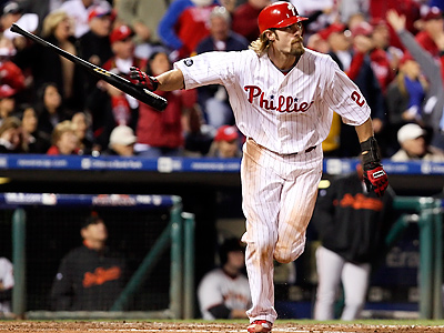Will Jayson Werth stay with the Phillies or run off to another team? (Ron Cortes / Staff Photographer)