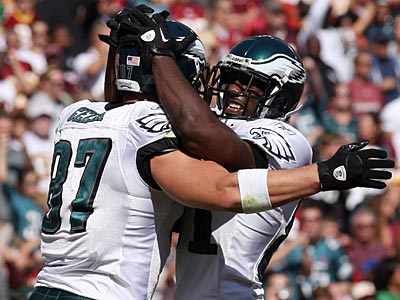 Brent Celek has been one of Mike Vick´s top targets in the last few weeks. (Yong Kim/Staff Photographer)