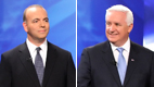 Tom Corbett [right] won endorsements from both Pittsburgh newspapers in the race for governor against Dan Onorato [left]